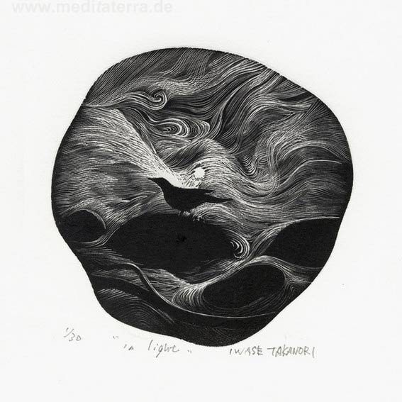 Takanori Iwase 2, Japan, In Light, 2016, Woodcut, 11 x 11 cm