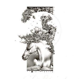Petar Chinovsky 20, Bulgaria, Don Quixote, 2015, Algraphy (L4), 12 x 6 cm