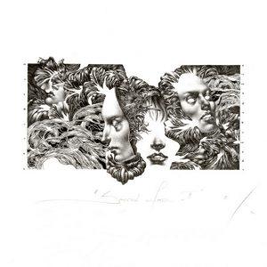 Petar Chinovsky 2, Bulgaria, Second Faces II, 2016, Algraphy (L4), 6 x 12 cm