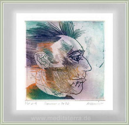 Roger Dewint 2, Belgium, Romain, Etching, 10 x 10 cm