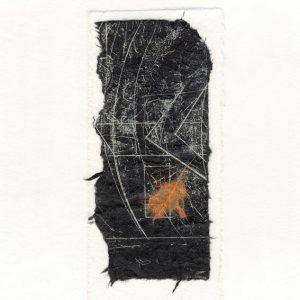 Ann Löwenstein 1, Sweden, Track b, 2015, Monotype, 6 x 13 cm