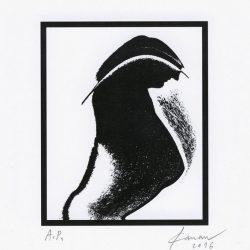 António Canau 1, Portugal, Sphinx Bird On Frame !?, Digital Print, 12,3 x 10 cm