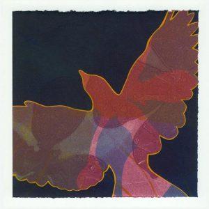 April Flanders 1, USA, Lift, 2016, Monotype and Gouache, 17,75 x 17,75 cm