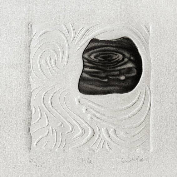 Armelle Magnier 1, FLAC, Nー XII / XXX, 2016, Manières Noire + Lyno, 10 x 10 cm