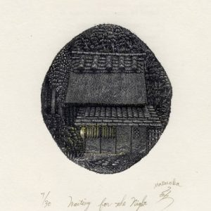 Atsushi Matsuoka 10, Japan, Waiting for the Night, 2010, Wood Engraving, 8.6 x 7.4 cm, 92