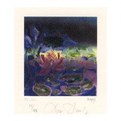 Ayse Anıl, 1, Turkey, Lotus, 2014, Linocut, Computer, 10 x 9 cm
