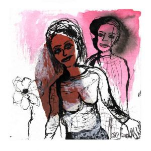 Birthe Petersen, 1, Denmark, Love, 2016, Mixed Media, 13 x 13 cm