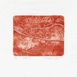 Brigitte B. Gagnon 1, Canada, Voie I, 2016, Collagraphy, 7 x 10 cm