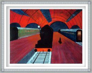 Carl Emanuel Mark 1, Sweden, NIGHTTRAIN , 2012, Oil/Canvas, 60 x 80 cm