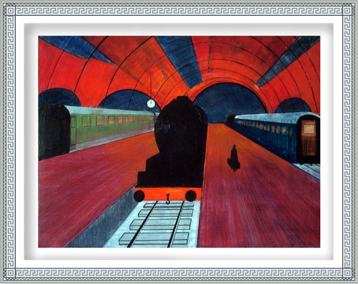 Carl Emanuel Mark 1, Sweden, NIGHTTRAIN , 2012, Oil/Canvas, 60 x 80 cm