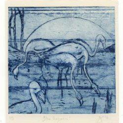 Cheryl McCoy 2, Australia, Blue Lagoon, 2016, Drypoint, 18 x 13, 5 cm