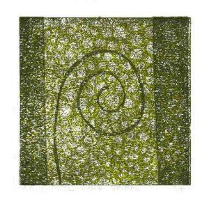 Erik Mol 2, Netherlands, Spiral, 2016, Lino, 12 x 12 cm
