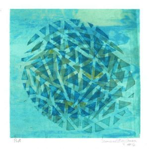 Fernanda Tajchman 2, Brazil, Blue Explosion, 2016, Silkscreen, 13 x 13 cm