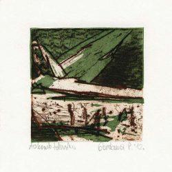 Gordana Petrović 1, Serbia, Without Title, 2012, Soft Ground and Linocut, 9,5 x 8,5 cm