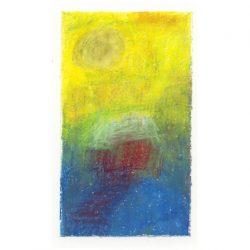 Helmi Leppäkoski 1, Finland, Heaven`s Light, 2015, Oil Pastel, 13 x 8 cm