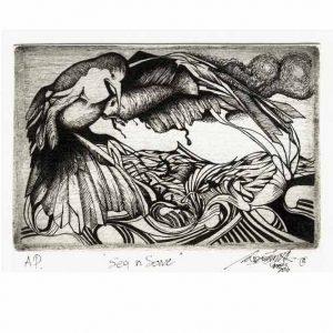 Isamudin Bin Ahmad 2, Malaysia, Memory of Hart, Engrave, 9 x 14 cm