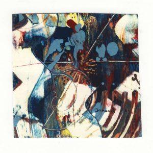 JOHannaS, Switzerland, Blue Vision 1, 2015, Mixed Media 12 x 12 cm