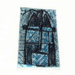 Josée Wuyts + Frans de Groot 3, Netherlands, Tower, 2011, Dry Point, Etching, 11 x 8 cm