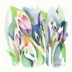 Katharina Proch Pleiss 1, Swiss, Small Pleasures 1, 2016, Aquarell, 13 x 13 cm