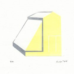 Laura Manfredi 1, Italy, American Diary - Ann's Greenhouse 1, 2016, Relief Print, 10 x 10 cm