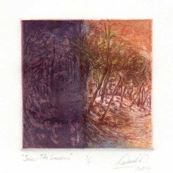 Lidia Paladino 2, Argentina, Series: The Seasons, 2013/16, Etching, 10,5 x 10,5 cm