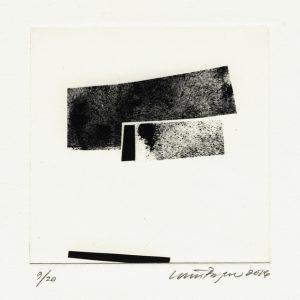 Louise Breyen 1, Denmark, No Title, 2016, Ink Drawing, Collage, Photogravure, 12 x 12 cm plate