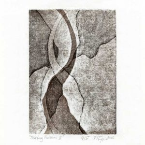 Manfred Egger 1, Austria, Blazing Flames II, 2016, Woodcut, 9 x 13 cm