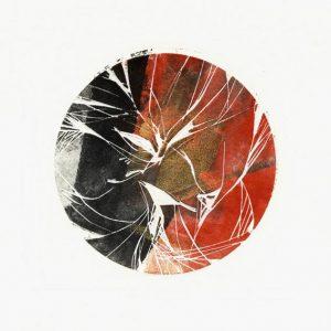 Marika Polasek 2, France, Planète II, Woodcut & Linocut, 10 x 11 cm