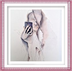 Monika Bohus 3, Czech Republic, The 21st Century Phänomenon, Pastel on Paper, 70 x 100 cm