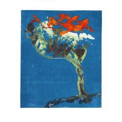 Nuray Yildiz 1, Turkey, Storm, 2016, Monoprint, 12 x 10 cm