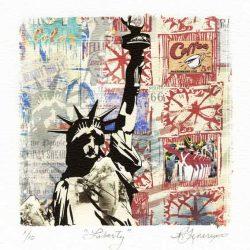 Ray Genereux, 1, USA, Liberty, Montage Print, 13 x 13 cm