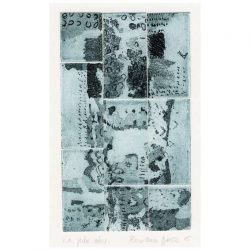 Rowena Božič 1, Slovenia, No title, 2015, Collage, Etching, Aquatint, 12 x 7 cm