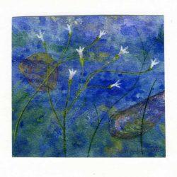 Seppo Salmela 2, Finland, Stream, 2016, Aquarelle, 12 x 13 cm