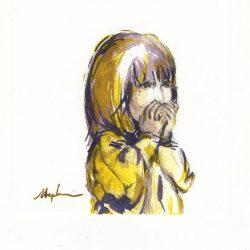 Stephanie Lee 1, Singapore, Surprise Me, 2016, Watercolour, 13 x 13 cm