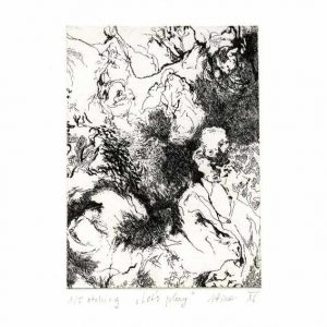 Tina Mohorovic 1, Slovenia. Let's Play, 2016, Etching, 18 x 14 cm