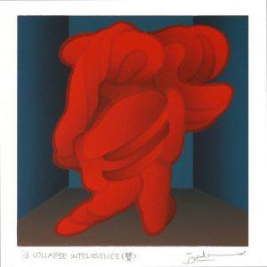 Masahiro Fukuda 3, Japan, Running Bright (奐), 2016, Silk-Screen, 13 × 13 cm