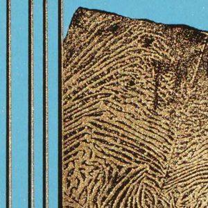 """Detail aus dem Bild """"In Blau"""" der polnischen Künstlerin Alicja Snoch-Pawlowska"""