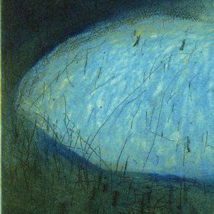"""Detail aus dem Bild """"Blue Tutu"""" des irischen Künstler Stephen Lawlor"""