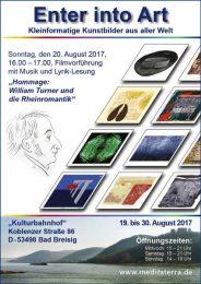 Ausstellungsplakat Turner Rheinromantik Bad Breisig