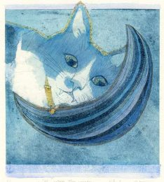 Chiemi Itoi, 24, Japan, Wish upon the Moon, 2017, Copper Print Collage, Color Pencil, Acryl Gouache , 17,5 × 15 cm
