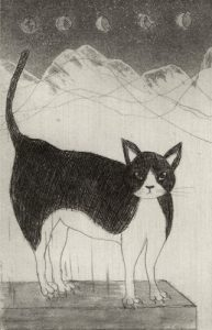 Chiemi Itoi, 2, Japan, Kau, 1999, Etching, Aquatint, Mezzotint, 10 × 6,5 cm