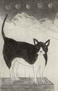 Chiemi Itoi, 2, Japan, Kau, 1999, Etching, Aquatint, Mezzotint, 10 × 6,5 cm