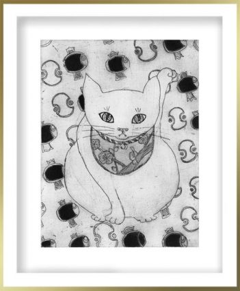 Chiemi Itoi, 22, Japan, Maneki-neko (uchidenokozuchi), 2010, Etching, Mezzotint, 15 × 11,5 cm