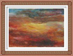 Pamela Ecker, Austria, Evening Sky, 2016, Acrylic on Paper, 44 x 64 cm