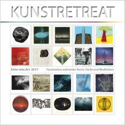Kunstretreat 2017 - cover, Geschenkbuch, Ausstellungskatalog, Faszination welterweiter Kunst, Farbe und Meditation