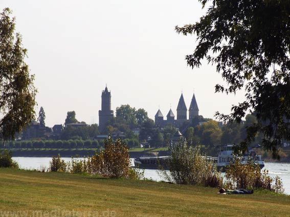 Blick auf die Altstadt von Andernach am Rhein