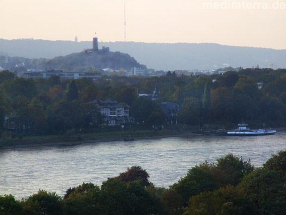Die Godesburg liegt heute mitten in dem Stadtteil Bad Godesnberg