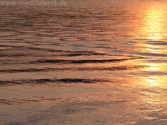 Der Rhein im abendlichen Licht