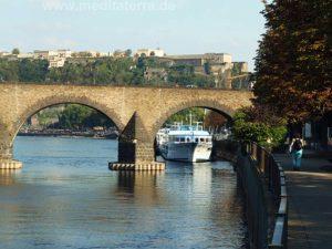 Turners Lieblingsmotive: Moselbrücke und Festung Ehrenbreitstein in Koblenz