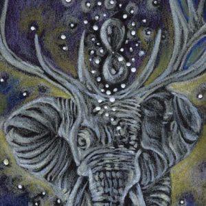 """Detail aus dem Bild """"Dream"""" der bulgarischen Künstlerin Ismari Caraballo"""